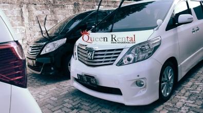 rental alphard mobil pengantin putih dan hitam